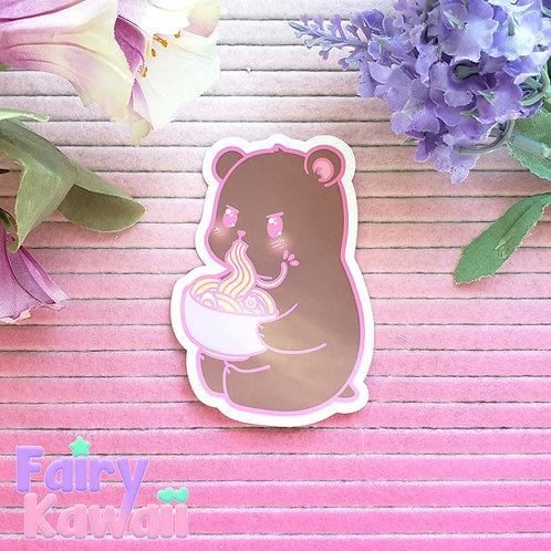 "Hangry Bear 3""x 3"" Vinyl Kawaii Stickers"