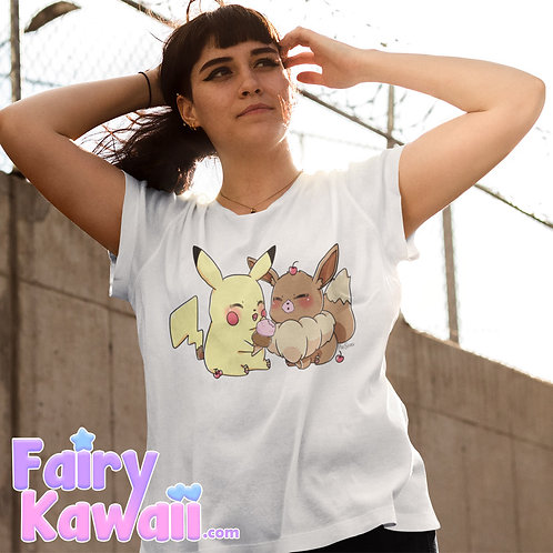 Pik and Eev Ice Cream Shirt Kawaii Clothing