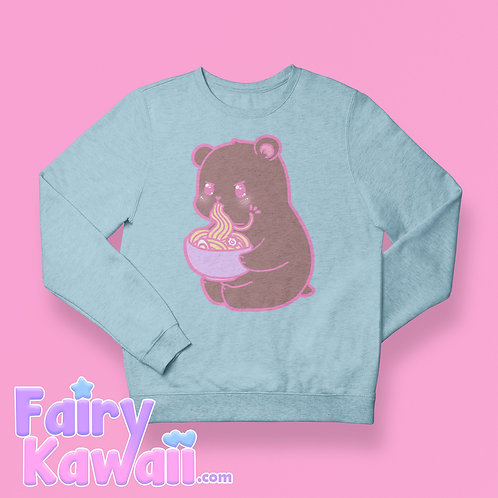 Hungry Bear Crew Neck Sweatshirt Kawaii Clothing
