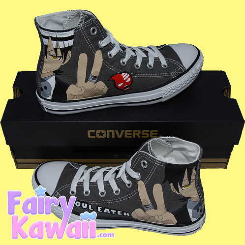 Soul Eater Shoes - Custom Converse Anime Shoes