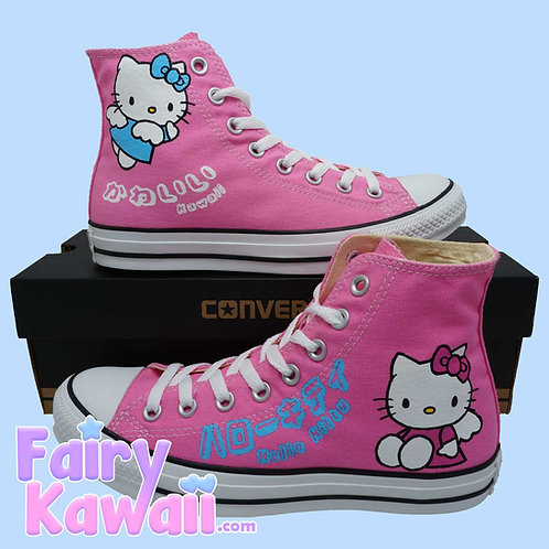 Hello Kitty Shoes - Custom Converse Anime Shoes
