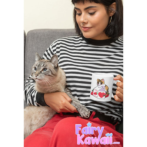 Kitten Strawberry Milk Kawaii Mug