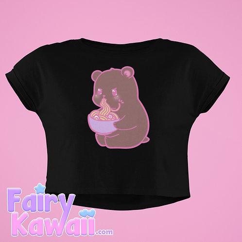 Hungry Bear Women's Crop Top Shirt Kawaii Clothing
