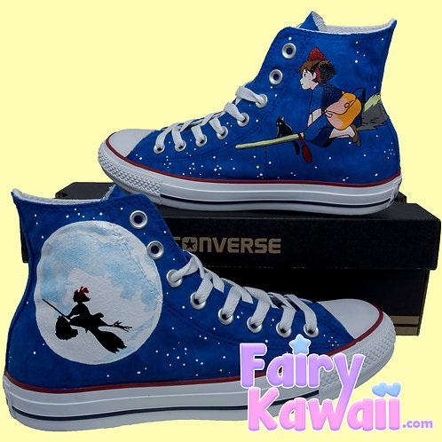 Kiki's Delivery Service Shoes - Custom Converse Anime Shoes