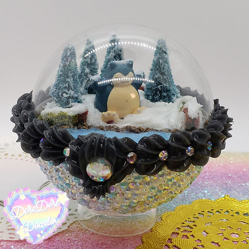 Snowy Snorlax Pokemon Terrarium