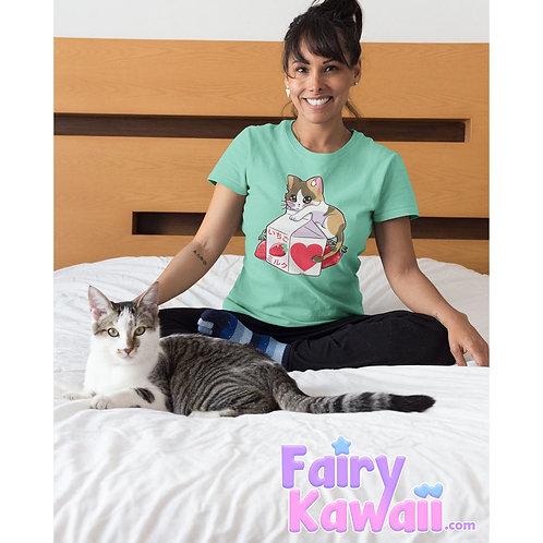 Kitten Strawberry Milk Shirt Kawaii Clothing