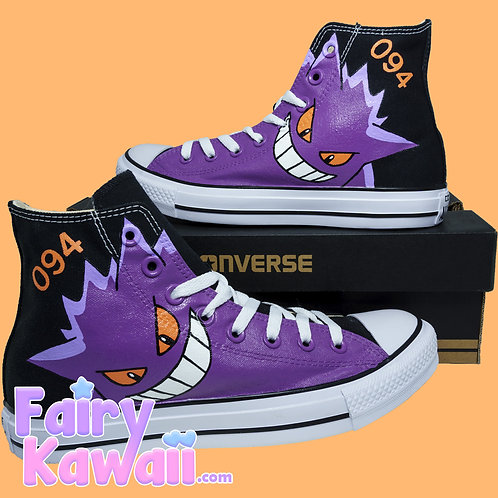Gengar Shoes - Custom Converse Anime Shoes