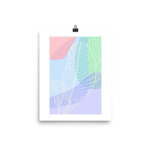 pastel palm print