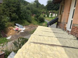 Izolace PUR pěnou - balkón