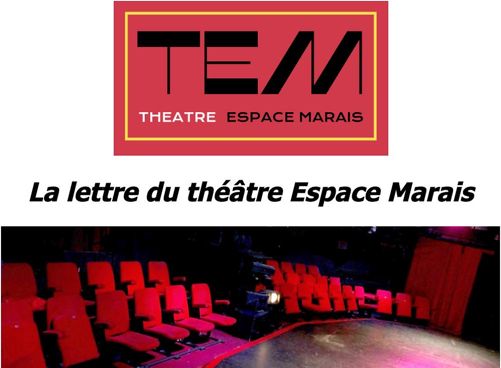 La lettre du Théâtre Espace Marais