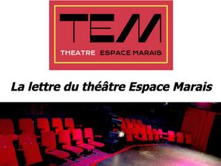Sortir au théâtre et ressentir la présence des acteurs au théâtre... Enfin !