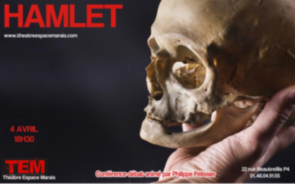 Hamlet : Conférence-débat au Théâtre Espace Marais