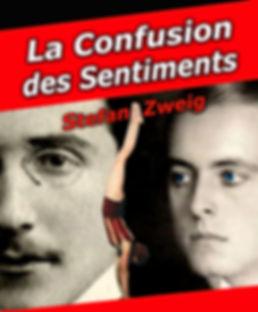 """Affiche du spectacle """"La confusion des sentiments"""" de Stefan Zweig, adapté et mis en scène par Joseph Morana au Théâtre Espace Marais."""