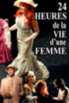 """Affiche """"24 heures de la vie d'une femme"""" Stefan Zweig"""