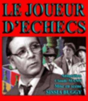 """""""Le joueur d'échecs Stefan Zweig, adapté par Claude Mann, mis en scène par Sissia Buggy au Théâtre Espace Marais."""
