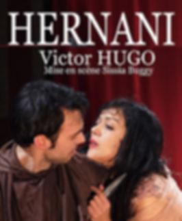 """Affiche du spectacle """"Hernani"""" au Théâtre Espace Marais"""