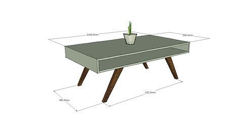 Example of a design sketch of a coffee table