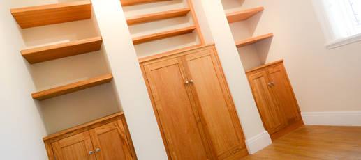 Oak Filing Alcove Cabinet