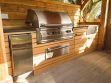 Oak Outdoor Kitchen
