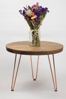 Walnut & Coffee Side Table