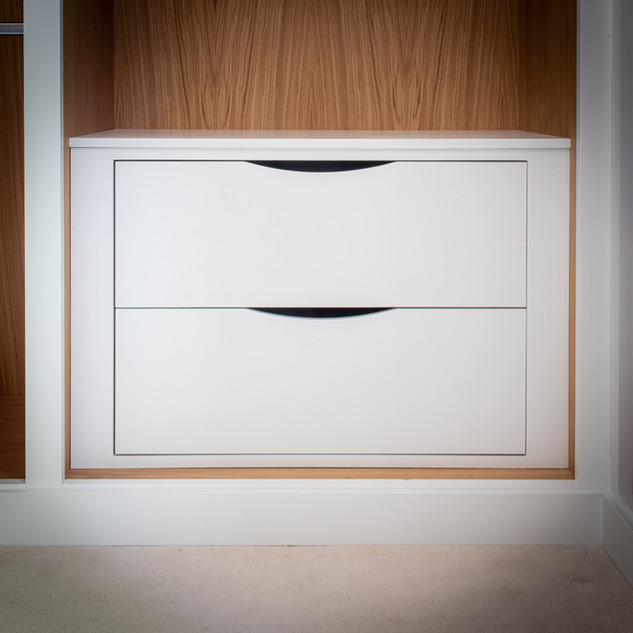 White Internal Drawers