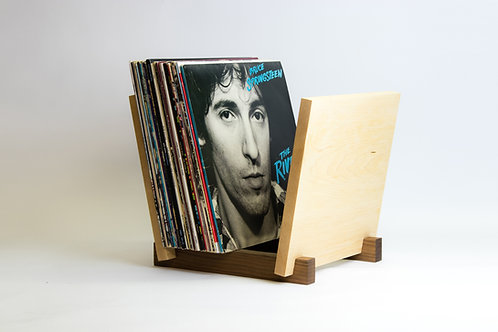 Walnut & Maple Record Stand