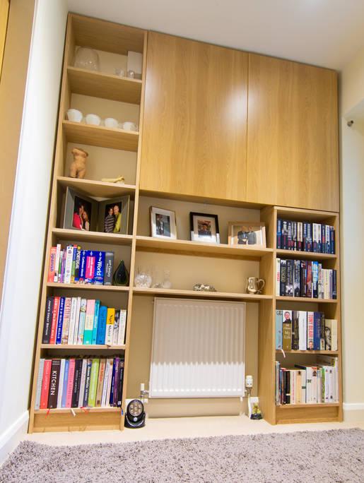 Oak Entrance Bookcase