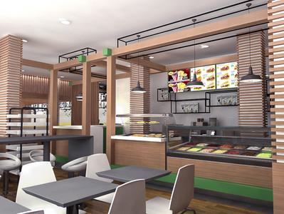 Origam cria conceito de restaurante para rede de hipermercados Kero