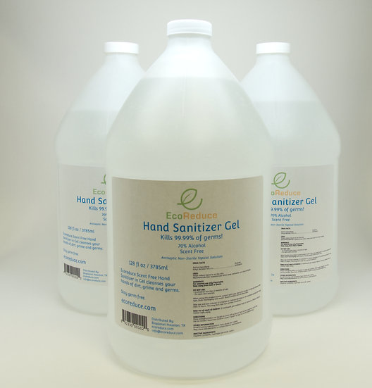 1 Gallon Hand Sanitizer Gel 70% Alcohol (Case of 4 units)