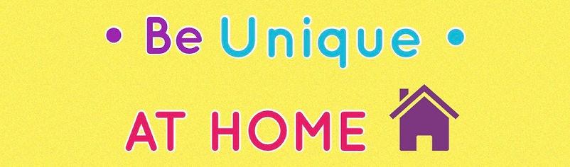 Be Unique At Home website header