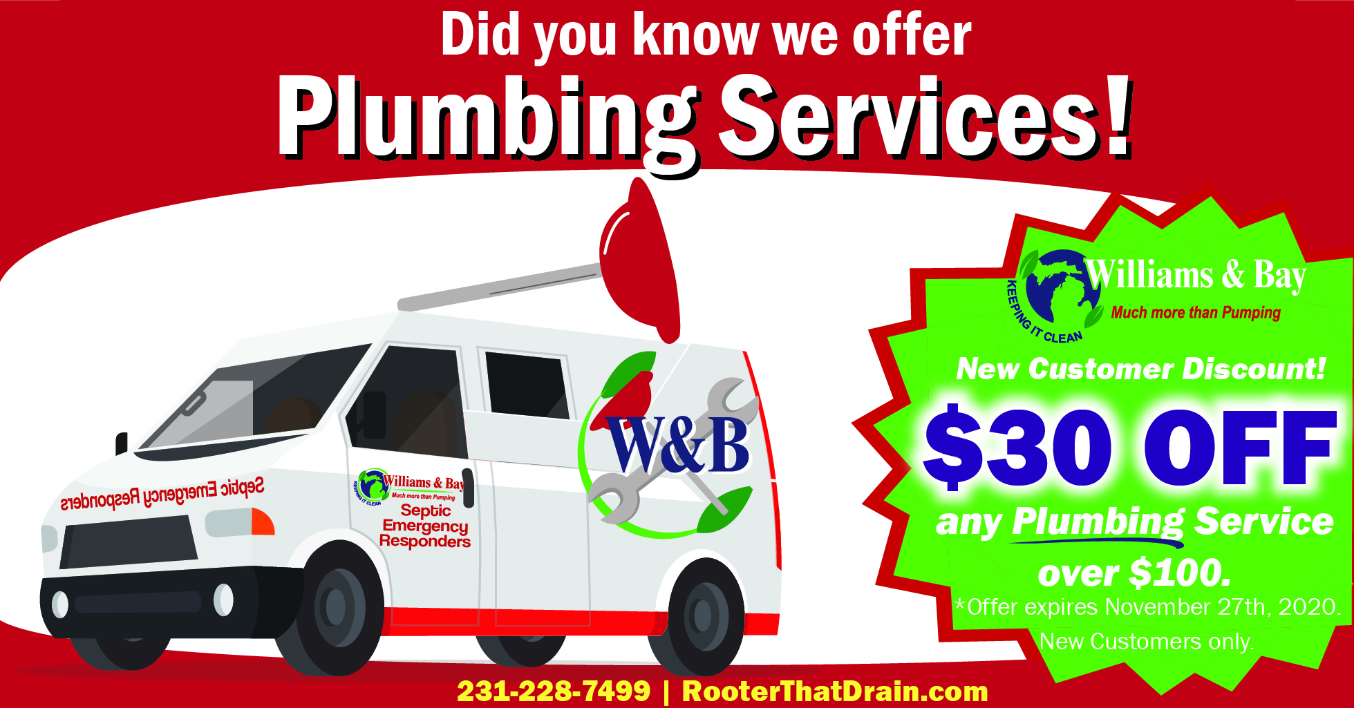 Plumbing Services Promo- Plunger - Willi