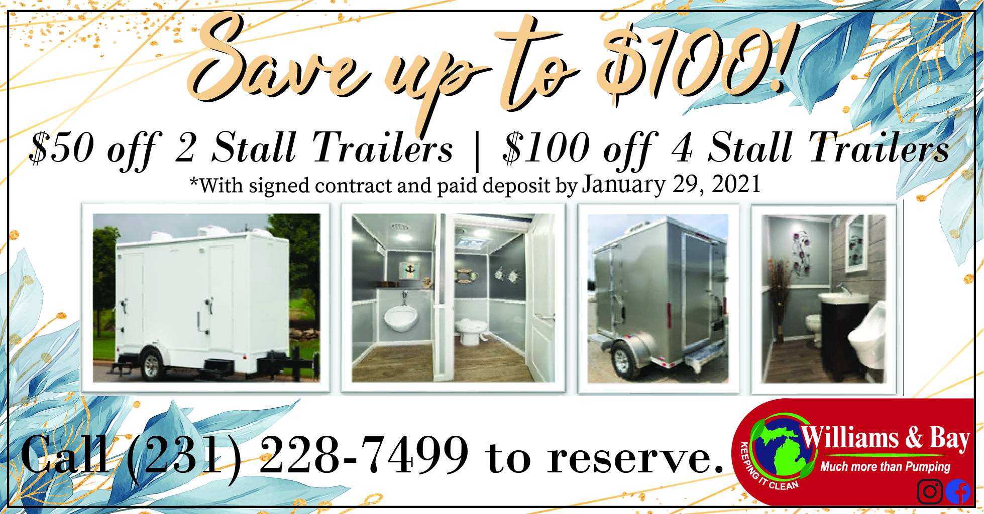 WEDDING Special - Portable Restrooms - W