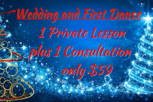 1 Wedding Dance Lesson plus 1 Consultation!