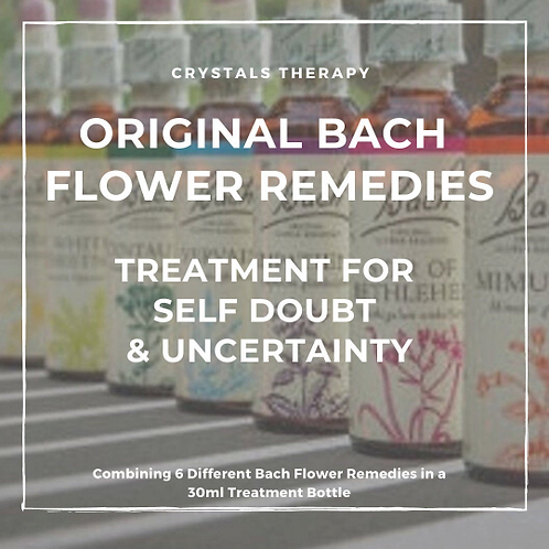 Bach Flower Remedies for Self Doubt/Uncertainty, Bach Flower Remedy Essences