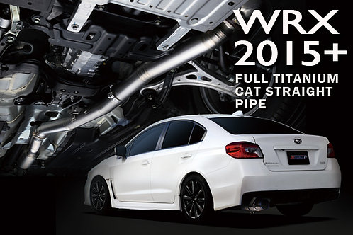 TOMEI - ExpremeTi Catless Straight Pipe - Subaru WRX 2015+