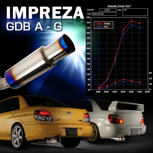 TOMEI - ExpremeTi Catback Exhaust - Subaru Impreza GDB A-G/ WRX/STI 02-07