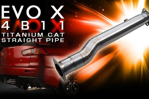 TOMEI - ExpremeTi Titanium Cat Delete Test Pipe - Mitsubishi Evo X 4B11