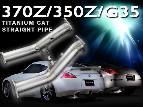 TOMEI - ExpremeTi Cat Straight Pipe - Nissan 350z 2007-2009 / 370z 2009+