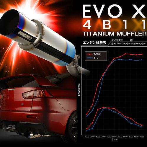 TOMEI - ExpremeTi Catback Exhaust - Mitsubishi Evo X 4B11