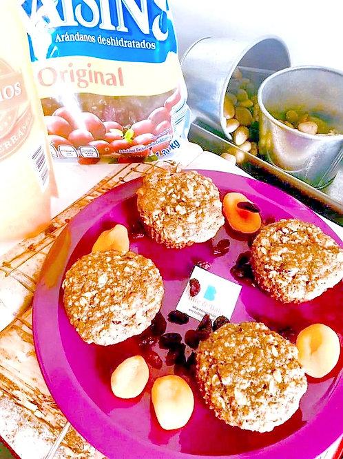 Muffin de chabacano y arándano