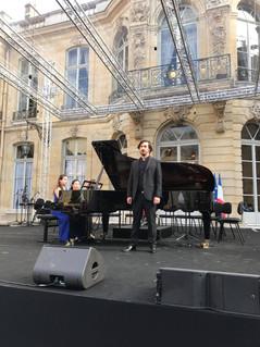 Hôtel de Matignon avec le baryton Nikolaus Fluck