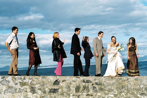 Wedding friends photo