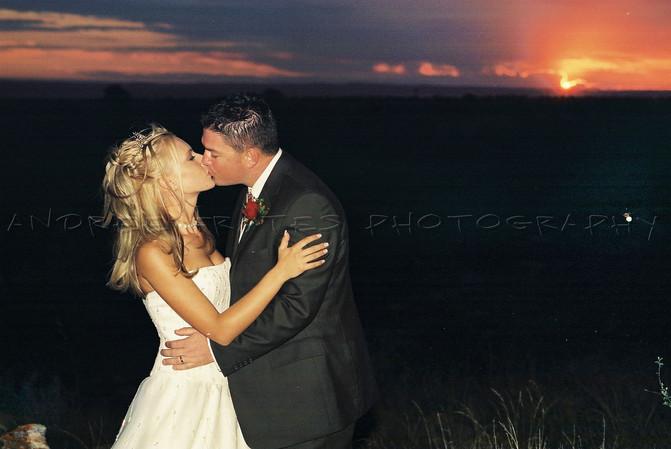 Bushveld sunset wedding