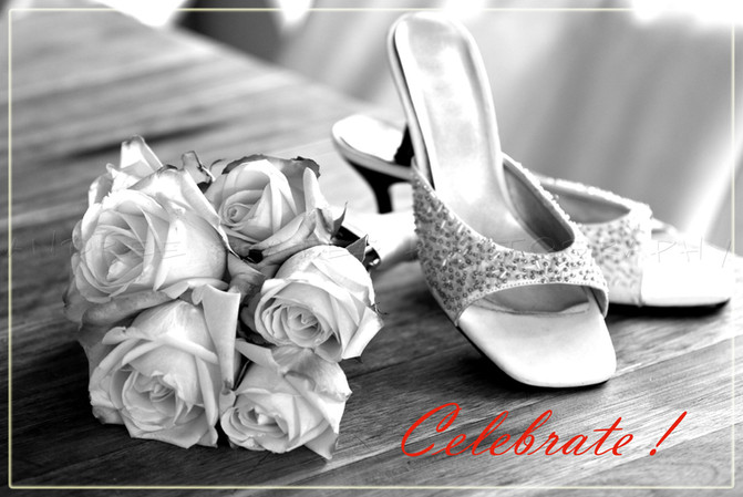 Wedding shoes & flowers