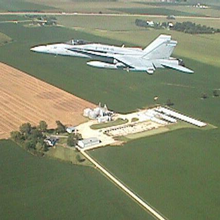 F/A-18C over the Gould Farm, 2001