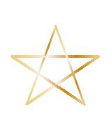 Pentagramm gold klein