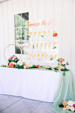 Just Peachy Champagne Wall