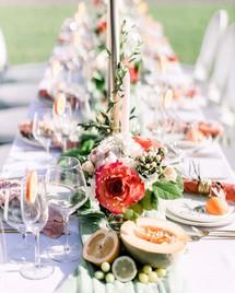 P + P Wedding Tablescape