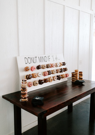Taylor + Luke Donut Wall
