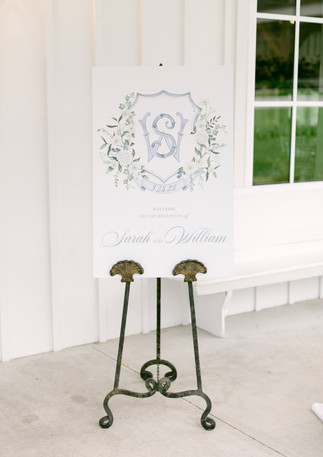 Will + Sarah Welcome Sign